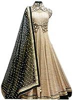 Pramukh Group Women's Bangalory Silk Semi-Stiched Anarakali Suit (zeelcream09_cream_Free Size)