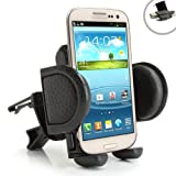 USA Gear Car Air Vent Mount Holder for Samsung Galaxy S4 , S3 , Stellar / Exhilarate / Focus 2 / Brightside / Galaxy Ace 2 / Captivate Glide & More - Includes Cleaning Kit