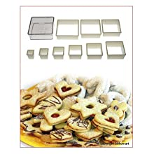 Silikomart Nylon Cutter 04 Regular Square For Cookie Pastry Cutter 9 Pcs Set