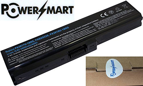 PowerSmart� 10.8V 4400mAh 48Wh PA3817U-1BRS, PA3818U-1BRS, PABAS227, PABAS228 Battery for Toshiba Dependant L750, L750-065, L750-070, L750-0KP, L750-0P8, L750-136, L750-16J, L750-16L, L750-16V, L750-16X, L750-16Z, L750-170, L750-171, L750-17D, L750-17P, L