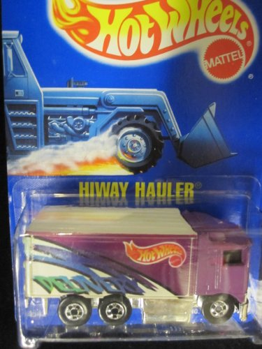 Hiway Hauler 1994 Hot Wheels #238 Purple with Basic Wheels on Solid Blue Card