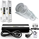 iPower GLSETX400DHMCT6 400-Watt Light Digital Dimmable System for Plants - Air Cooled Tube Set
