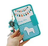 ( UN ANANAS ) 馬 タッセル 水玉 リボン ボタン カード入れ 手帳 iPhone6S iPhone5S カバー 携帯 ケース 女性(スカイiPhone5S)