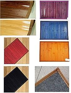 Lovely home tappeto bamboo passatoia tinta unita cm - Alfombras de bambu a medida ...