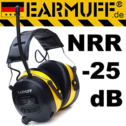25dB-Original-EARMUFF-Radio-Kapsel-Gehrschutz-Kopfhrer-mit-SmartPhone-und-MP3-Anschluss-Electronic-Ear-Muff-Hhere-Musik-Lautstrke-als-PELTOR-und-Co-und-strungsfreier-Empfang