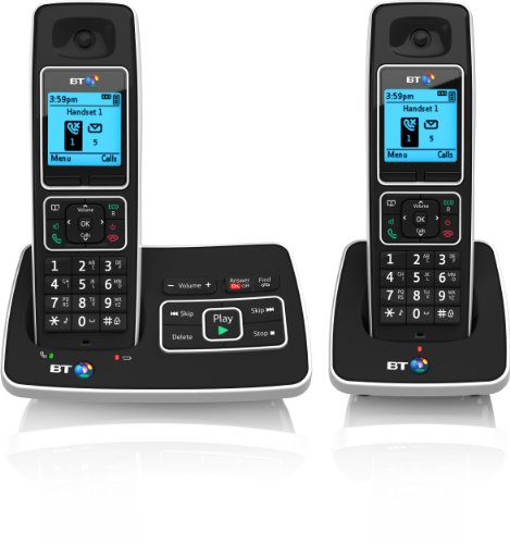 BT 6500 Cordless DECT Phone with Answer Machine and Nuisance Call Blocking (Pack of 2)