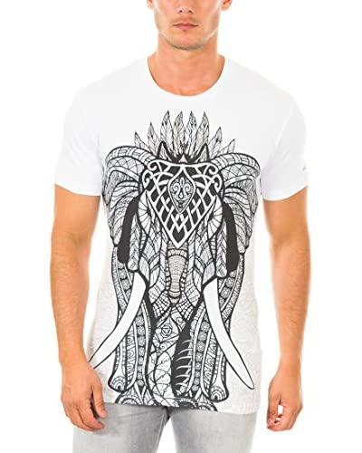 883 Police T-Shirt Manica Corta Gothic Elephant  [Bianco]