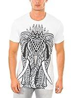 883 Police Camiseta Manga Corta Gothic Elephant (Blanco)