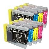 【むさしのメディアオリジナル】 BROTHER 互換LC10-4PKx2(4色セット x 2パック)インクカートリッジ ブラザー互換 [フラストレーションフリーパッケージ(FFP)]