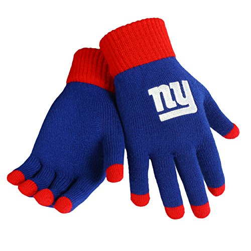 New York Giants Official NFL Glove Solid Outdoor Winter Stretch Knit by Forever Collectibles 145288 (New York Giant Gloves compare prices)