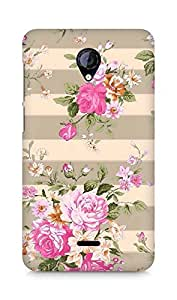 Amez designer printed 3d premium high quality back case cover for Micromax Unite 2 A106 (spring pink flower floral)