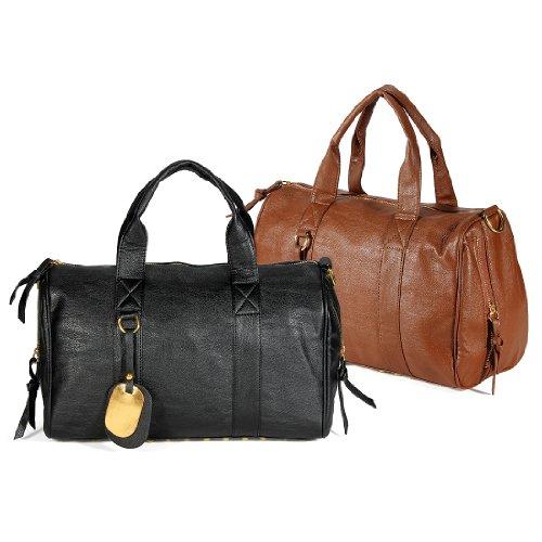 Fashion Lady Pu Leather Rivet Shoulder Bag Satchel Tote Handbag