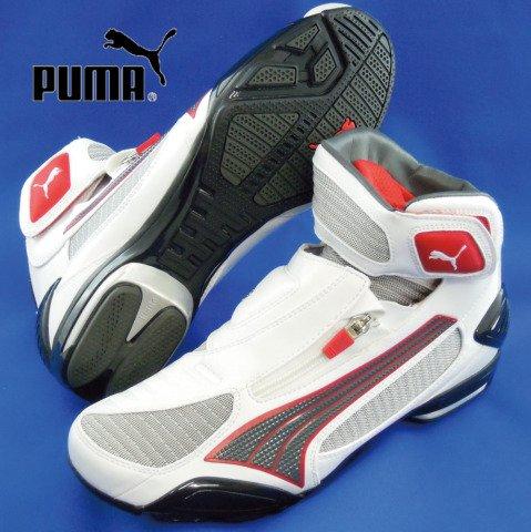 PUMA(プーマ) MOTO モト 250パーフ ライディングシューズ WH/D.GRY/RD EUR41