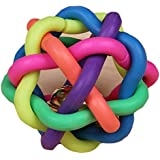 Atdoshop(TM) 1PC Colorful Soft Bell Plastic Ball Durable Fetch Chew Pet Dog Toy