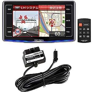 コムテック レーダー探知機 ZERO 700VA-S (700VA+OBD2-R2セット)高感度GPS【Amazon.co.jp 限定】 専用液晶保護フィルム付