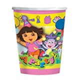 """Dora The Explorer NEW Party Cups, paper, 266mls, pk of 8"""