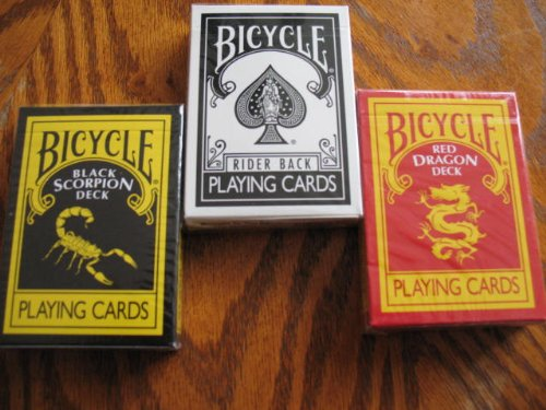 Ultimate Bicycle Black Magic 3 Deck Collection Playing Cards with