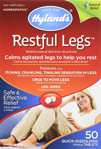 Hyland's Restful Legs Tablets, Natural Itching, Crawling, Tingling and Leg Jerk Relief, 50 Count