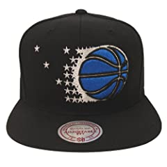 Orlando Magic Mitchell & Ness XL Logo Retro Snapback Cap Hat All Black