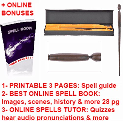 Death Eaters Wands Replica + Harry Potter Magic Wizards Printable Spell Book Cheap