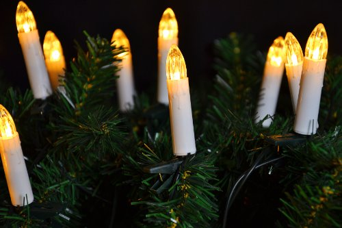 Lichterkette 20er LED Weihnachtsbaumbeleuchtung warm weiß Christbaum Kerzen