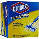 Clorox ReadyMop Absorbent Mopping Pads, 16 ct (Case of 6)