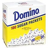 DOMINO SUGAR PACKETS - 100/ 3.54g Packs