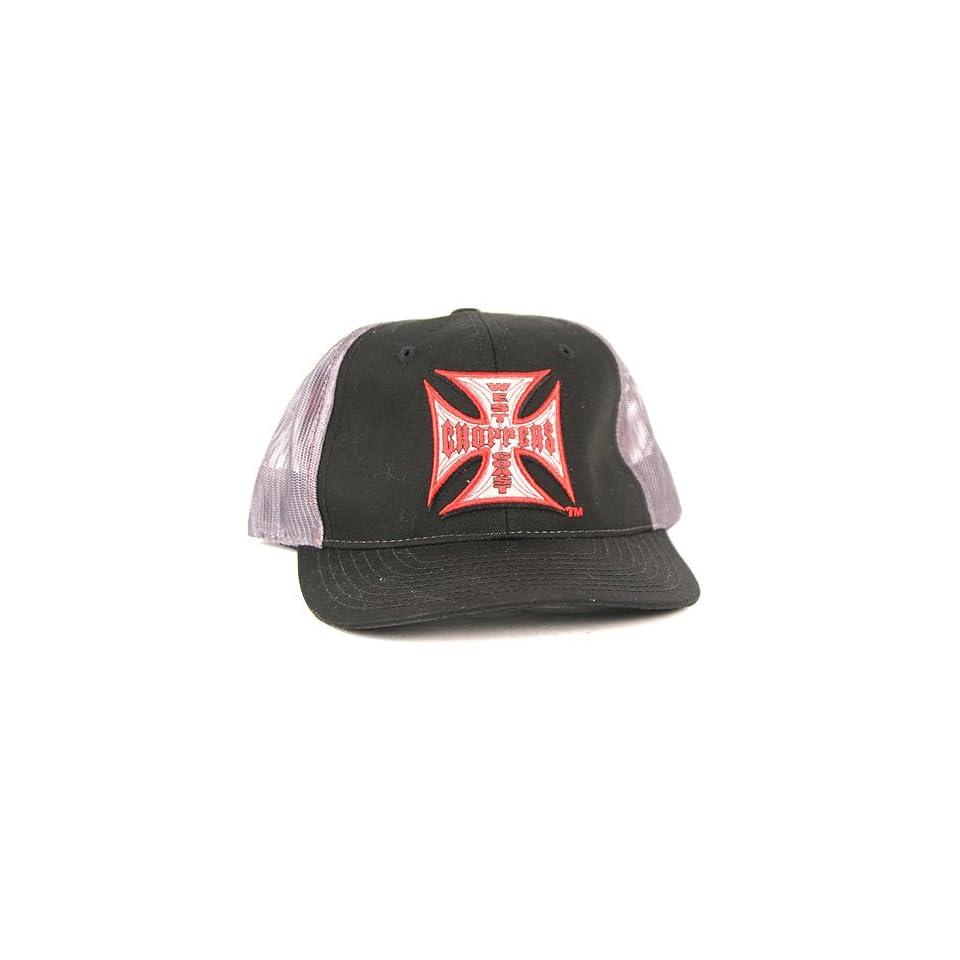 West Coast Choppers Jesse James Black & Gray Mesh Back Adjustable Hat