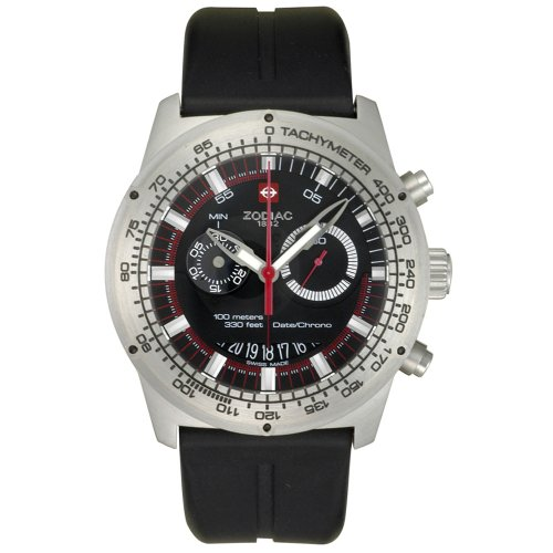 Zodiac Men's ZO4700 Speed Dragon Racer Collection Chronograph Black Rubber Watch