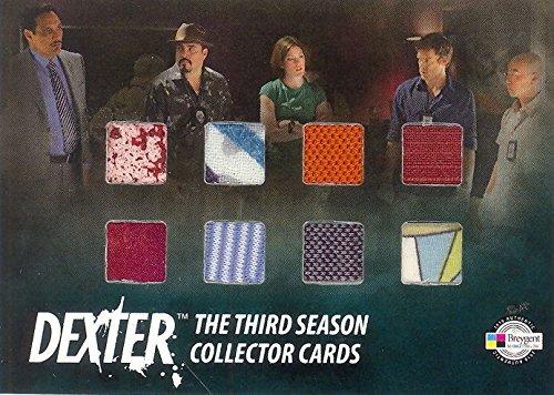 [DEXTER SEASON 3 2010 BREYGENT SDCC 8 SWATCH COSTUME CARD DEXTER LAB COAT] (Dexter Lab Costume)