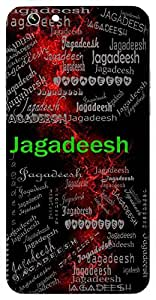 Jagadeesh (Lord Of The World, Lord Vishnu , God) Name & Sign Printed All over customize & Personalized!! Protective back cover for your Smart Phone : Apple iPhone 7