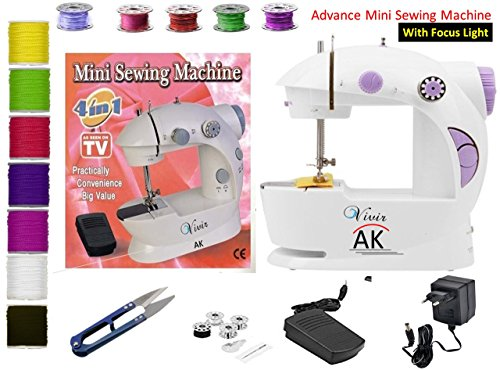 "Vivir ""AK"" Mini Desktop Multifunctional Electric Sewing Machine Household Double Stitches Sewing Tools"