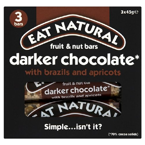 Eat Natural Bars Dark 70 % Chocolate Brazils & Apricots 3 x 45g
