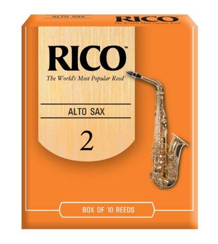 Rico Alto Sax Reeds, Strength 2.0, 10-pack