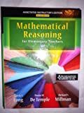 img - for Annotated Instuctor's Edition for Mathematical Reasoning for Elementary School Teachers book / textbook / text book