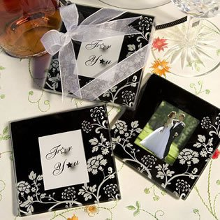 Elegant Flower Coaster Wedding Favors with Internal Pictures, 72