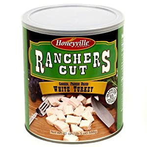 Freeze Dried White Turkey - 6 Can Case - 9 Pounds by Ranchers Cut