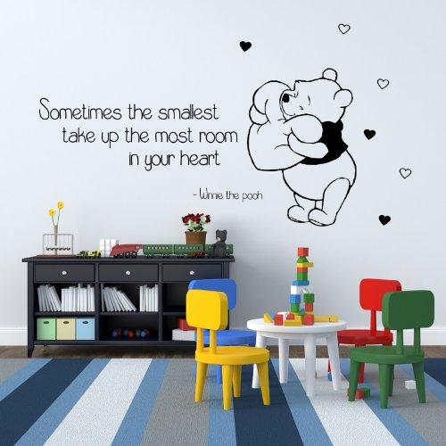 Winnie The Pooh Kids Nursery Wall Sticker Quote Bedroom Inspiring Art Decal 6 Ck 100X55 front-208262