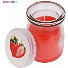 Babies Bloom Strawberry Scented Eco- Friendly Candles In Glass Jar