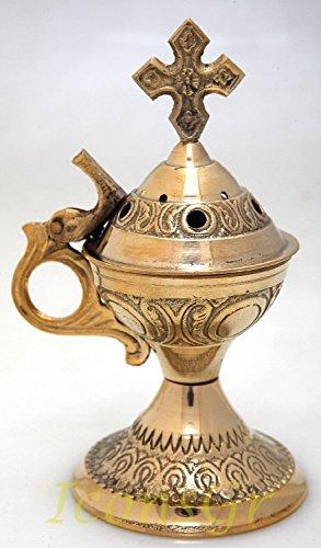 Carcasa ortodoxa Greek abarramiento shop quemador de esencias (4886b)