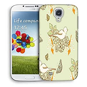 Snoogg White Bird Printed Protective Phone Back Case Cover For Samsung S4 / S IIII