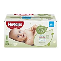 Huggies Natural Care Baby Wipes Refill, 624 Count (Packaging may vary)