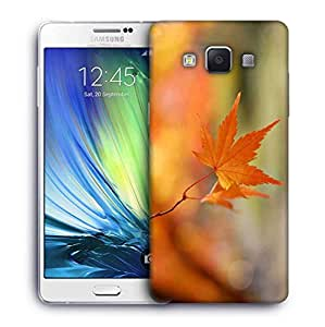 Snoogg Single Dried Leaves Printed Protective Phone Back Case Cover For Samsung Galaxy A7