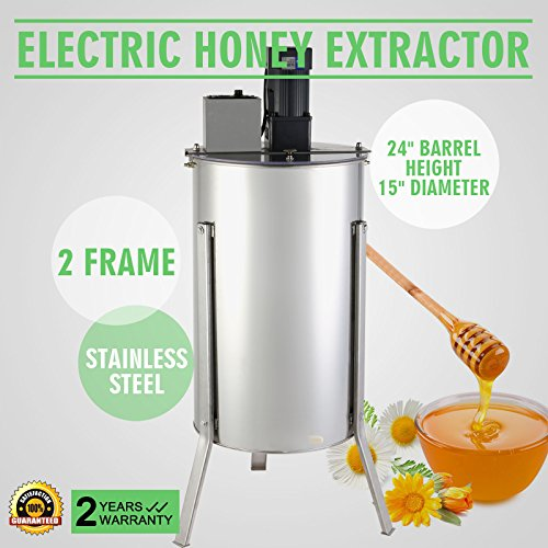 OrangeA Honey Extractor Bee Honey Extractor Electric Honeycomb Spinner 2 Two Frame Stainless Steel Beekeeping Accessory (2 Frame Electric Honey Extractor) (Honeycomb Shaped Jar compare prices)