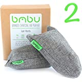Bamboo Charcoal Air Purifier Bags 2 x 100g ★ Shoe Deodorizer and Air Freshener ★ Remove Odor and Moisture From Shoes, Gym Bags, Closet, Cars, Pets ★ Chemical Free Non Toxic Alternative to Sprays