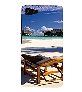 Printvisa Beautiful Seaside With Reclining Beach Chair Back Case Cover for Lenovo ZUK Z2