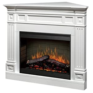Dimplex Traditional Corner Mantel Electric Fireplace In White