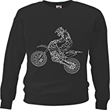 "Sweatshirt ""Motocross – Enduro – Stunt – Freestyle Motocross – Gelände Motorrad"" in Schwarz"