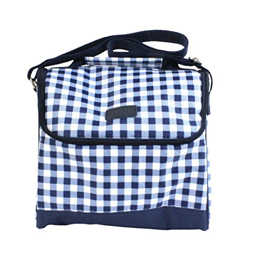Sachi Cross-Body Insulated Lunch Tote, Style 207-245, Blue Gingham - 1