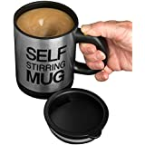 Evelots Press Button Battery Operated Self Stirring Mug, Assorted Colors